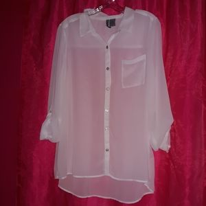 White Sheer Top by New Dimensions Weekend